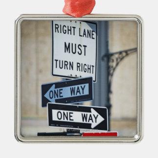 Traffic Signs Metal Ornament