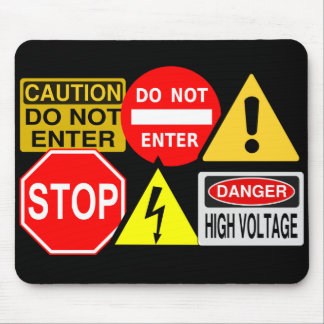 Traffic signs mousepad