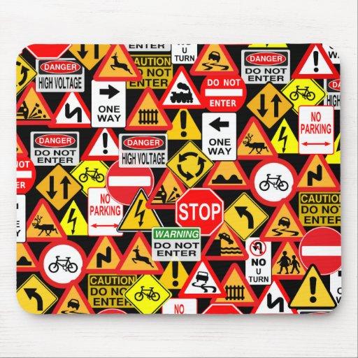 Traffic signs mousepad