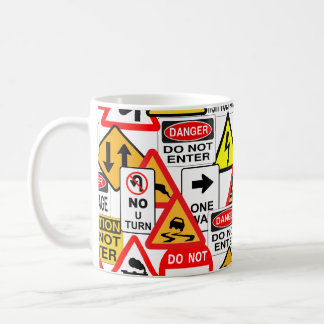 Traffic signs mug - choose style & color