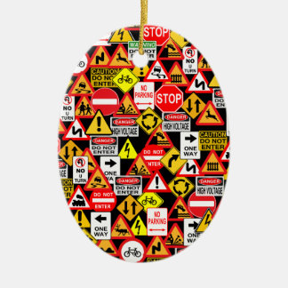 Traffic signs ornament - customize