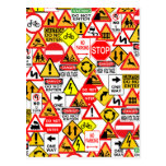 Traffic signs postcard