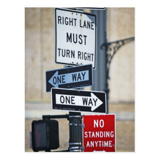 Traffic Signs Postcard