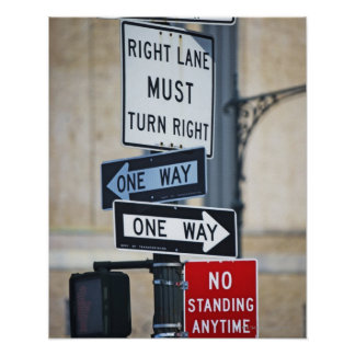 Traffic Signs Poster