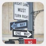 Traffic Signs Square Sticker