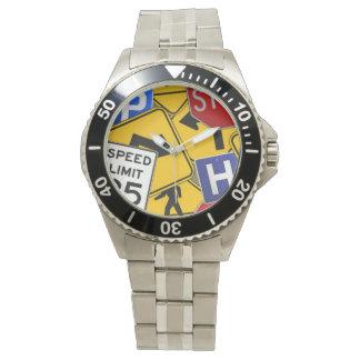 Traffic Signs Wrist Watch