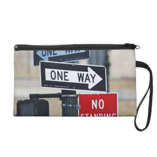 Traffic Signs Wristlet Clutches