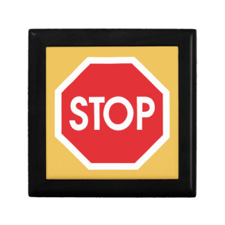 Traffic stop sign (infrastructure road works) gift box