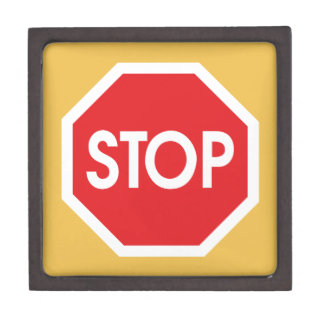 Traffic stop sign (infrastructure road works) jewelry box