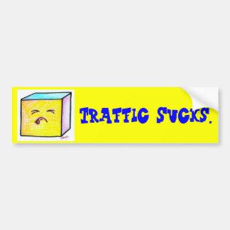Traffic Sucks Bumper Sticker Car Bumper Sticker