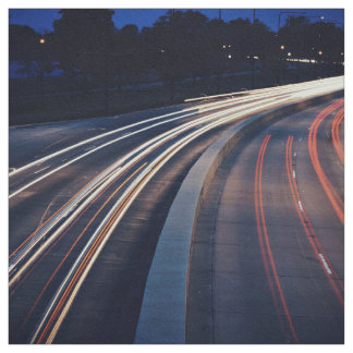 Traffic Themed, A Picture Of A Highway Captured At Fabric