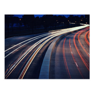 Traffic Themed, A Picture Of A Highway Captured At Postcard