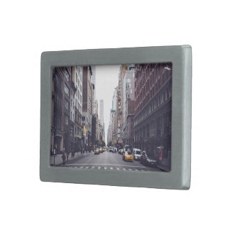 Traffic Themed, A View Of A City Streets Where Veh Belt Buckles