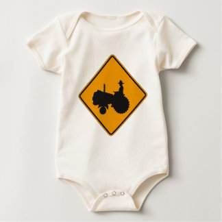 Traffic tractor baby bodysuit