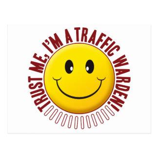 Traffic Warden Trust Smiley Postcard