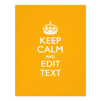 Traffic Yellow Background Keep Calm And Your Text Flyer