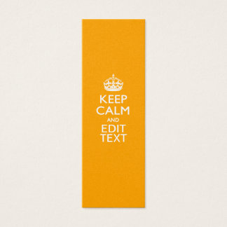 Traffic Yellow Background Keep Calm And Your Text Mini Business Card