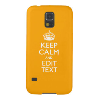 Traffic Yellow Decor Keep Calm And Your Text Galaxy S5 Case