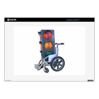 "TrafficLightWheelchair052215 15"" Laptop Skin"