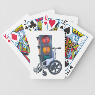 TrafficLightWheelchair052215 Bicycle Playing Cards