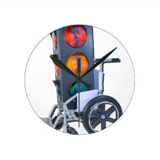 TrafficLightWheelchair052215 Round Clock