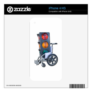 TrafficLightWheelchair052215 Skins For The iPhone 4