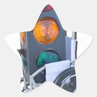TrafficLightWheelchair052215 Star Sticker