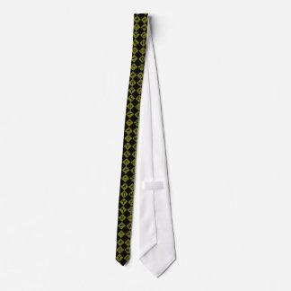Tráfico de la diversión muestra-negro y amarillo corbata personalizada
