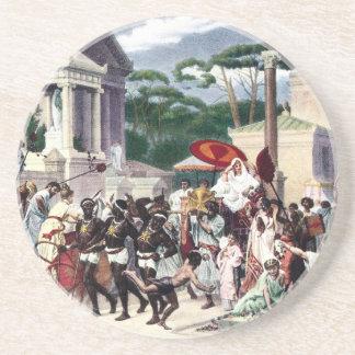 Tráfico de peatones en la manera de Appian Posavaso Para Bebida