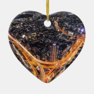 Tráfico de Tokio Adorno Navideño De Cerámica En Forma De Corazón