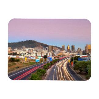 Tráfico en la autopista a Cape Town, Western Cape Imanes De Vinilo