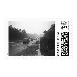 Tráfico en la carretera sellos