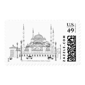 Tráfico por la mezquita estampillas