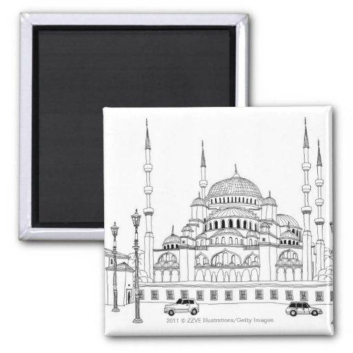 Tráfico por la mezquita imán de frigorifico