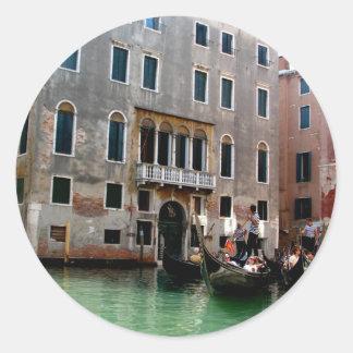 Tráfico veneciano pegatina redonda