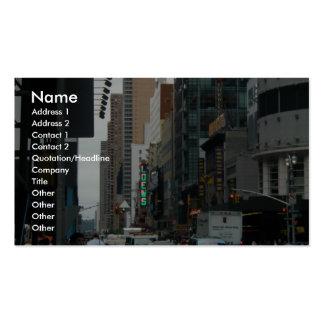 Trafique la 42.a y 7ma avenida tarjetas de visita