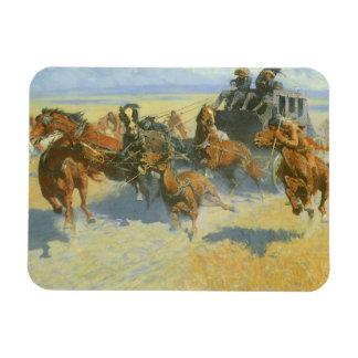 Tragar cerca al líder, Remington, vaquero del Imán Rectangular