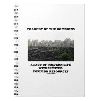 Tragedia de los campos comunes un hecho de la vida libro de apuntes con espiral