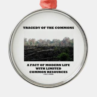 Tragedia de los campos comunes un hecho de la vida adorno de navidad