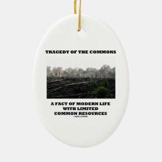 Tragedia de los campos comunes un hecho de la vida ornamento para arbol de navidad