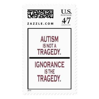 """Tragedia del autismo "" Estampillas"