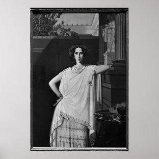 Tragedia o, retrato de Raquel, c.1854 Póster