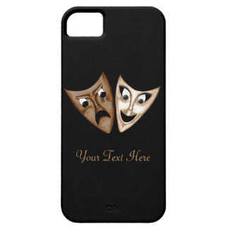 Tragedia y comedia funda para iPhone 5 barely there