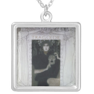 Tragedy, 1897 silver plated necklace