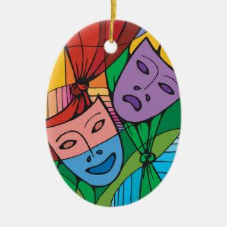 Tragedy and Comedy Theatre Symbol Ornament