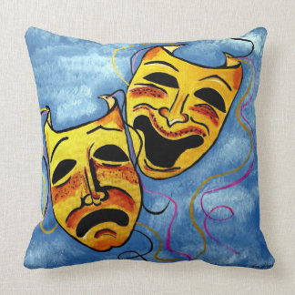 TRAGEDY AND COMEDY THROW PILLOW