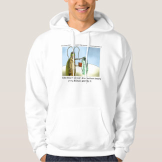 Tragedy At The Roach Motel Funny Cartoon Hoodie by