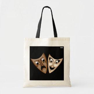 Tragedy & Comedy Budget Tote Bag