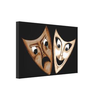 Tragedy & Comedy Canvas Print