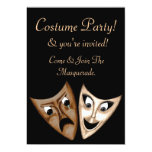 Tragedy & Comedy Custom Invitation